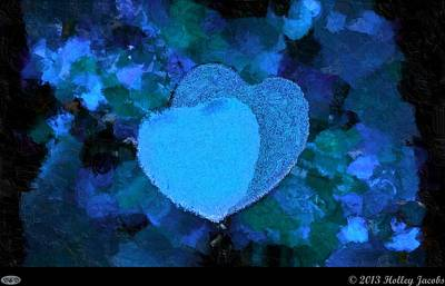 Holley Jacobs Digital Art - You Changed My Life Blue by Holley Jacobs