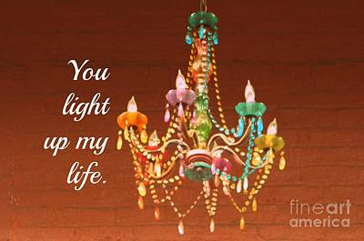 Digital Art - You Light Up My Life by Valerie Reeves