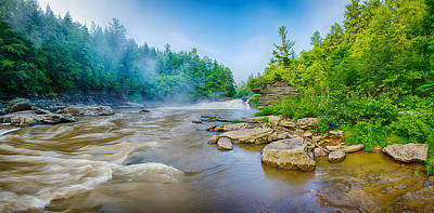 Scenic River Photograph - Youghiogheny River A Wild And Scenic by Panoramic Images