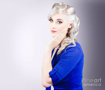 Cleansing Photograph - Young Blond Girl With Perfect Clean Skin by Jorgo Photography - Wall Art Gallery