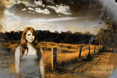 Photograph - Young Country Girl by Jorgo Photography - Wall Art Gallery
