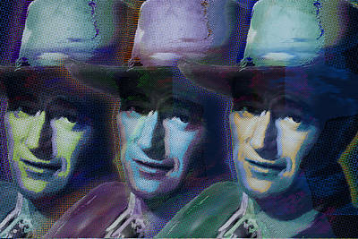 Painting - Young John Wayne Pop Repeat by Tony Rubino