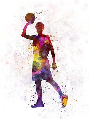 Young Man Basketball Player Art Print