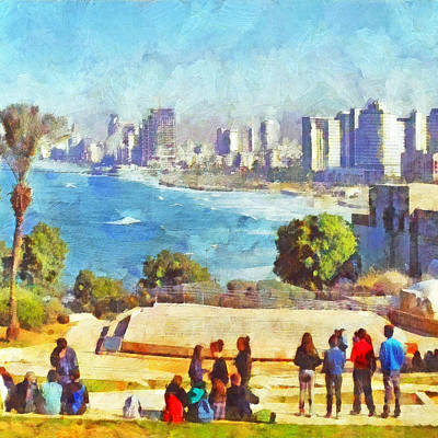 Digital Art - Youth Groups In Tel Aviv by Digital Photographic Arts