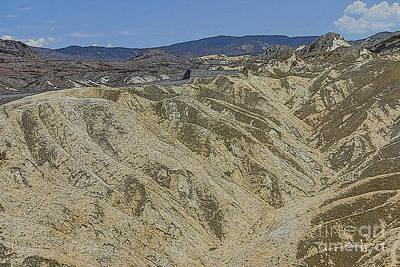Death Valley Digital Art - Zabriskie Point by Patricia Hofmeester