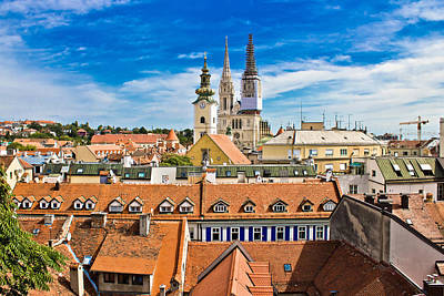 Photograph - Zagreb View From Upper Town by Brch Photography