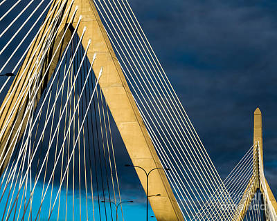 Photograph - Zakim Bridge In Gold by Susan Cole Kelly