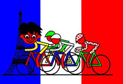 Digital Art - Zebastian Rider In Paris by Asbjorn Lonvig