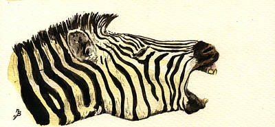 Zebra Head Study Original by Juan  Bosco