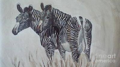 Painting - Zebras by Audrey Van Tassell