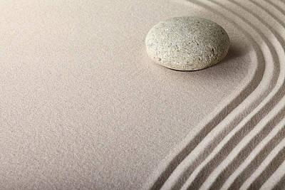 Zen Sand Stone Garden Art Print by Dirk Ercken
