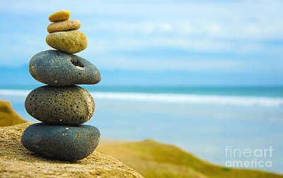 Zen Stone Stacked Together Art Print