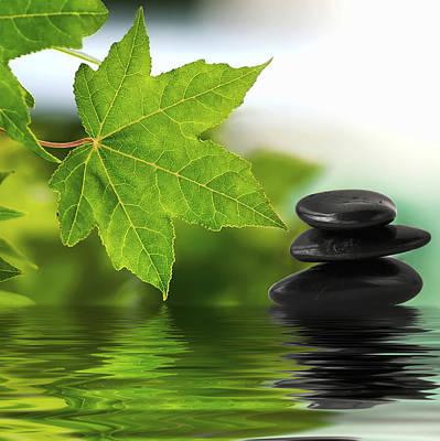 Zen Stones On Water Art Print
