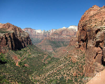Photograph - Zion Canyon Overlook by Debra Thompson