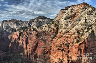 Photograph - Zion Canyon Walls by Adam Jewell