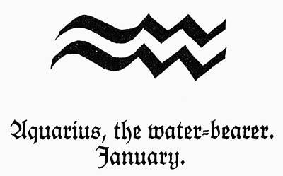 Aquarius Painting - Zodiac Aquarius by Granger