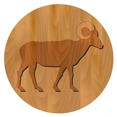 Zodiac Digital Art - zodiac sign - Goat Year by Michal Boubin