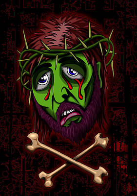 Turin Digital Art - Zombie Superstar by Steve Hartwell