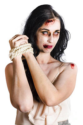 Zombie Tied Up Art Print by Jorgo Photography - Wall Art Gallery