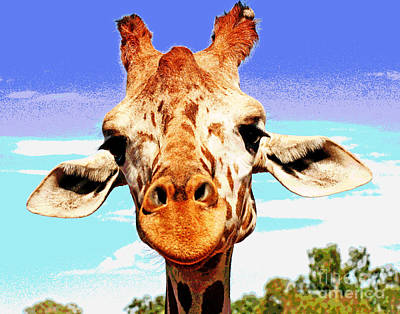 Photograph - Zoo Giraffe by Larry Oskin