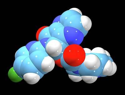 Pill Photograph - Zopiclone Sleeping Pill Drug Molecule by Dr Tim Evans