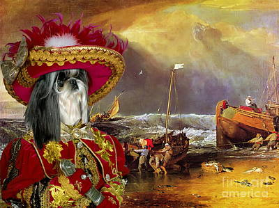 Shih Tzu Painting -  Shih Tzu Art Canvas Print by Sandra Sij