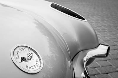 Photograph - 1960 Chevrolet Corvette Emblem by Jill Reger
