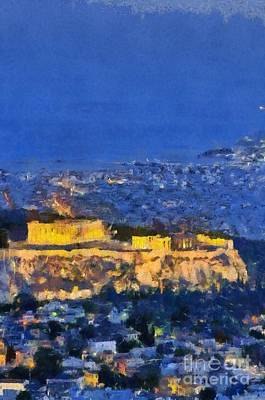 Light Painting - Acropolis Of Athens by George Atsametakis
