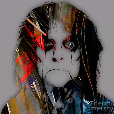 Rock N Roll Mixed Media - Alice Cooper Collection by Marvin Blaine