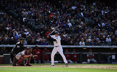 Photograph - Arizona Diamondbacks V Colorado Rockies by Doug Pensinger