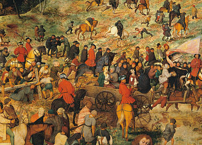 Peter Painting - Ascent To Calvary, By Pieter Bruegel by Pieter the Elder Bruegel