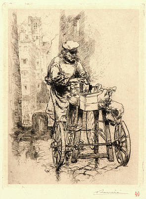 Old Grinders Drawing - Auguste Louis Lepère French by Litz Collection