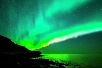 Photograph - Aurora Borealis On Iceland by Subtik