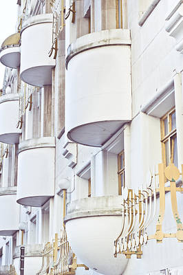 Balconies Art Print by Tom Gowanlock