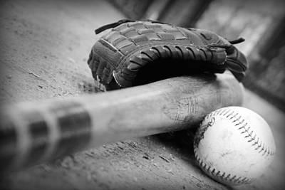 Baseball Bats Photograph - Baseball by Kelly Hazel