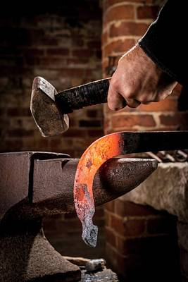 Hammer Photograph - Blacksmith At Work by Aberration Films Ltd