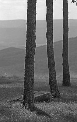Photograph - Blue Ridge Mountains - Virginia Bw 8 by Frank Romeo