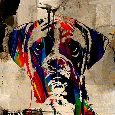Boxer Art Print by Marvin Blaine