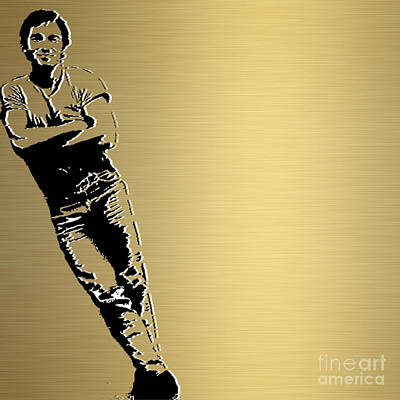 Bruce Springsteen Gold Series Art Print by Marvin Blaine