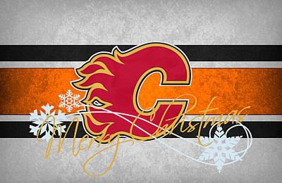 Calgary Photograph - Calgary Flames by Joe Hamilton