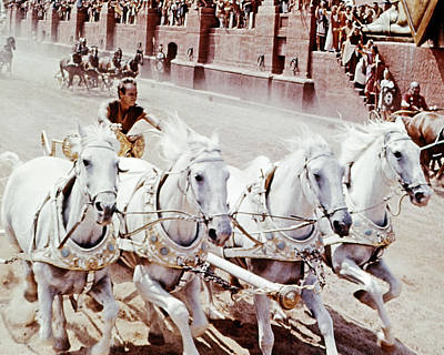 Photograph - Charlton Heston In Ben-hur  by Silver Screen