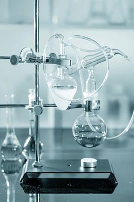 Chemistry Experiment In Lab Art Print by Wladimir Bulgar