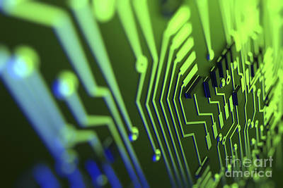 Processor Photograph - Circuit Board by Science Picture Co