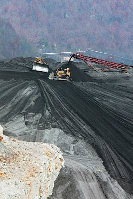 Coal Sludge Dam Art Print by Jim West