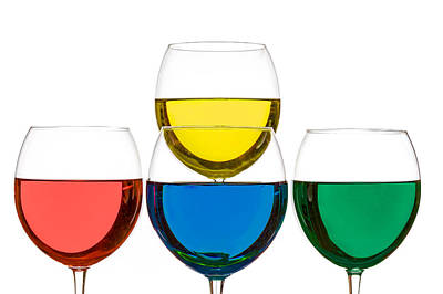 Photograph - Colorful Wine Glasses by Peter Lakomy