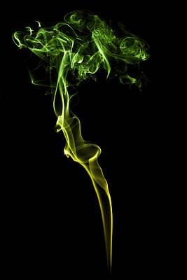 Colourful Smoke Art Print