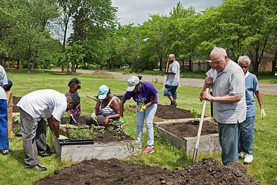Religious Community Photograph - Community Gardening by Jim West