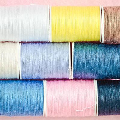 Cotton Reels Art Print by Tom Gowanlock