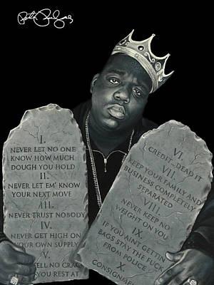 Hiphop Painting - 10 Crack Commandments by Peter Perlegas