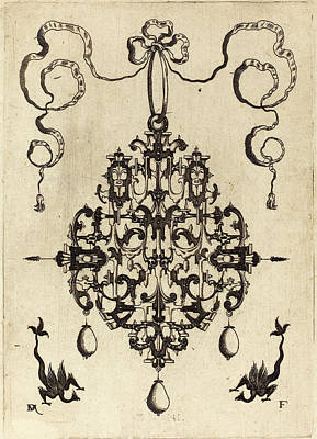 Two Tailed Drawing - Daniel Mignot German, Active 1593-1596 by Quint Lox